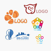 Abstract templates Logo set. Icons for any type of business and  — Stock Vector