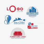 Abstract Logo template set. Icons for any type of business and c — Stock Vector