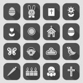 Easter Icon Symbol collection vector, grouped for easy editing.  — Stock Vector