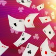 Playing cards falling on a pink background — Stock Photo #61336621