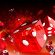 Casino Christmas dice and red balls floating illustration — Stock Photo #61676493