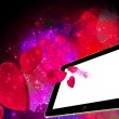 Love Hearts going out from a Tablet pc — Stock Photo #70361665