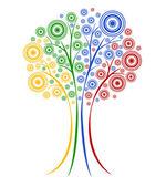抽象的なベクトルの木. — ストックベクタ