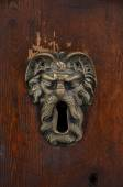 Old sculpted brass keyhole — Stock Photo