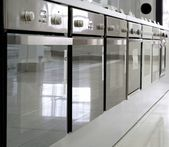 Rows of ovens in a store — Φωτογραφία Αρχείου
