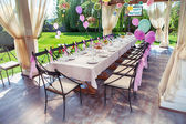 Beautifully organized event - served festive table — Stock Photo