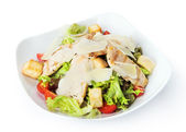 Restaurant food isolated -  caesar salad — Stock Photo