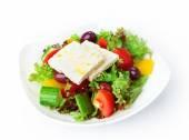 Restaurant food isolated - greek salad — Stock Photo