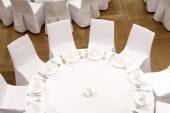 Beautifully organized event - served festive tables — Stock Photo