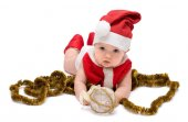 Christmas baby isolated — Stock Photo