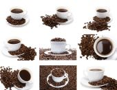 The cup of coffee set — Stock Photo