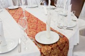 Beautifully organized event - served round table close-up — Stock Photo