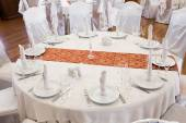 Beautifully organized event - served round table — Stock Photo