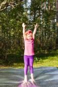 Morgon övningar för flickor — Stockfoto