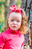 Kiss from little girl — Stock Photo