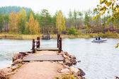 Ferry sur le lac — Photo