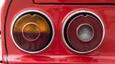 Closeup of the tail lights of a classic car — Stock Photo