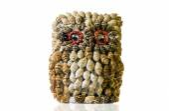 Owl made of seashells — Stock Photo