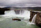 Iceland waterfall Godafoss — Stock Photo