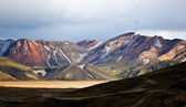 Colored mountains in Iceland — Stock Photo