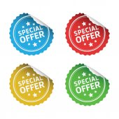 Special Offer Stickers — Stock Photo