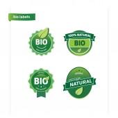 Bio Labels — Stock Vector