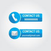 Contact Us Banners — Stock Vector