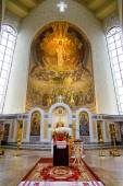 Iconostasis in orthodox Cathedral — Stock Photo