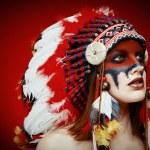 Native American Indian woman — Stock Photo #65996425