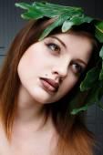 Attractive female face — Stock Photo