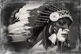 Native American Indian woman — Stock Photo