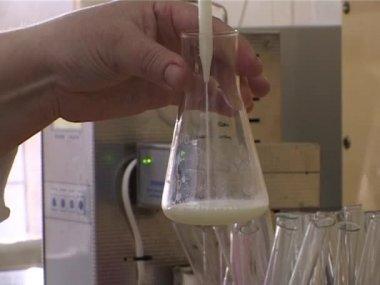 Chemical analysis of milk — Stock Video