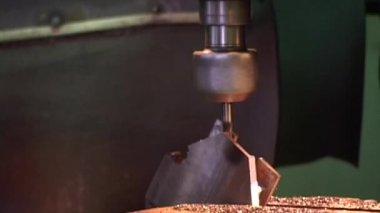 Milling machine in workshop — Stock Video