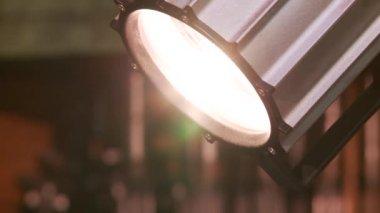 Movement burning lamps — Stock Video