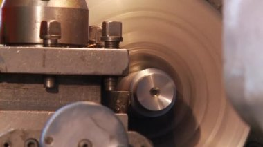 Details in spindle lathe — Stock Video