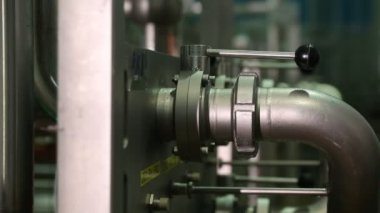 Valve in the piping system — Stock Video