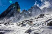 Jade Dragon Snow Swept Slope — Stock Photo