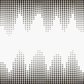 Halftone gray dots — Stock Vector