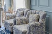 Stile di sedia di lusso in salotto — Foto Stock