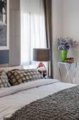 Luxury bedroom design — Stockfoto
