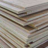 Layer of Industrial Plywood as background — Stock Photo