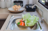 Vegetables in the kitchen — Stock Photo