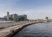 BERLIN - APIRL 17, 2013 : view of the Berlin Hauptbahnhof statio — Stock Photo