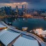 Singapore cityscape after raining — Stock Photo #61729833