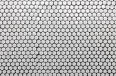 Padrão de telha círculo branco como pano de fundo — Fotografia Stock