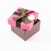 Pink gift box opened — Stock Photo