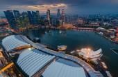 Singapore cityscape after raining — Stock Photo