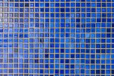 Blue mosaic tile wall  — ストック写真