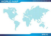 World map dotted illustration — Stock Vector
