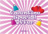 Valentine Special Offer illustration — Stock Vector
